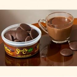 Butoni Stevielle de ciocolata neagra belgiana indulcita cu Stevia.