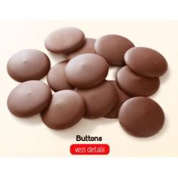 Butoni Stevielle de ciocolata belgiana cu lapte indulcita cu Stevia.